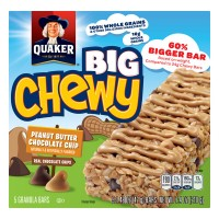 Quaker Big Chewy Peanut Butter Chocolate Chip Granola Bars - 5 ct