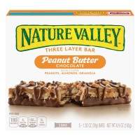 Nature Valley Layered Granola Nut Bars Peanut Butter Chocolate - 5 ct