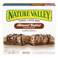 Nature Valley Layered Granola Nut Bars Almond Butter Chocolate - 5 ct
