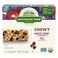 Cascadian Farm Chewy Granola Bars Harvest Berry Non-GMO Organic - 6 ct
