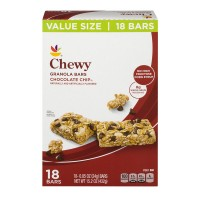 Stop & Shop Chewy Granola Bars Chocolate Chip - 18 ct