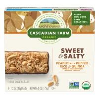 Cascadian Farm Granola Bars Peanut w/Puffed Rice & Quinoa Organic - 5 ct