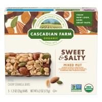 Cascadian Farm Chewy Granola Bars Mixed Nut Non-GMO Organic - 5 ct