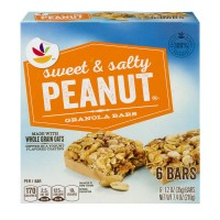 Stop & Shop Granola Bars Sweet & Salty Peanut - 6 ct