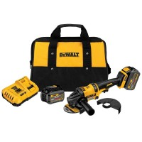 DEWALT FLEXVOLT 60-Volt MAX Lithium-Ion Cordless Brushless 4-1/2 in. Angle Grinder with (2) Batteries 2Ah, Charger and Bag