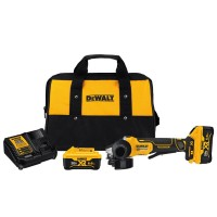 DEWALT 20-Volt MAX Lithium Ion Cordless 4-1/2 in. (115 mm) Brushless Paddle Switch Small Angle Grinder Kit with Kickback Brake