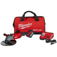 Milwaukee M18 FUEL 18-Volt Lithium-Ion Brushless Cordless 7/9 in. Grinder Kit W/ (1) 12.0Ah Battery, Bag & Rapid Charger