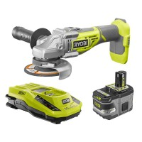 Ryobi 18-Volt ONE+ Lithium-Ion Cordless Brushless 4-1/2 in. Cut-Off Tool/Angle Grinder Kit with 9.0 Ah Battery and 18V Charger