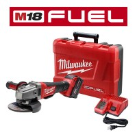 Milwaukee M18 FUEL 18-Volt Lithium-Ion Brushless Cordless 4-1/2 in./5 in. Grinder with Paddle Switch Kit One 5.0 Ah Batteries