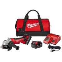 Milwaukee M18 18-Volt Lithium-Ion Cordless 4-1/2 in. Cut-Off Grinder Kit W/(2) 3.0Ah Batteries, Charger, Tool Bag