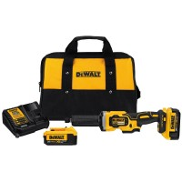 DEWALT 20-Volt MAX XR Lithium-Ion Cordless Brushless 1-1/2 in. Die Grinder with (2) Batteries 4Ah, Charger and Contractor Bag