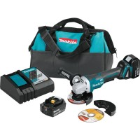 Makita 18-Volt 5.0Ah LXT Lithium-Ion Brushless Cordless 4-1/2 in./5 in. Paddle Switch Cut-Off/Angle Grinder Kit