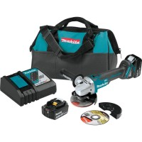 Makita 18-Volt 5.0Ah LXT Lithium-Ion Brushless Cordless 4-1/2 / 5 in. Cut-Off/Angle Grinder Kit