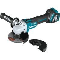 Makita 18-Volt Brushless 4-1/2 in. / 5 in. Cordless Paddle Switch Cut-Off/Angle Grinder with Electric Brake and AWS (Tool Only)