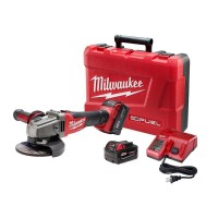 Milwaukee M18 FUEL 18-Volt Lithium-Ion Brushless Cordless 4-1/2 in. /5 in. Grinder W/ Slide Switch Kit W/ (2) 5.0Ah Batteries