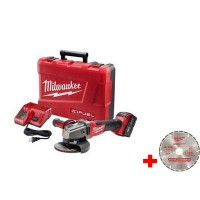 Milwaukee M18 FUEL 18-Volt Lithium-Ion Brushless 4-1/2 in. /5 in. Grinder, Slide Switch Lock-On Kit w/ 4-1/2 in. Diamond Blade