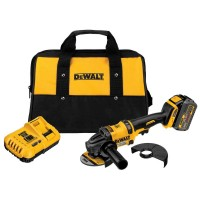 DEWALT FLEXVOLT 60-Volt MAX Lithium-Ion Cordless Brushless 4-1/2 in. Angle Grinder with Battery 2Ah, Charger and Contractor Bag