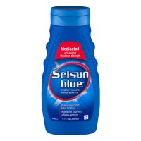 Selsun Blue Dandruff Shampoo Medicated with Menthol for Dry Hair