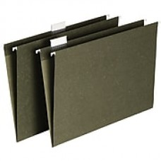 Staples® Hanging File Folders, 5-Tab, Letter, Standard Green, 50/Box (266262)