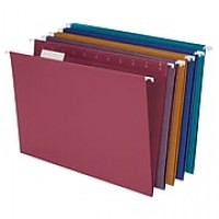 Ampad® Envirotec® 100% Recycled Hanging Files, Letter, 5 Tab, Assorted Colors, 20/Box