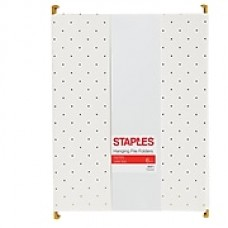 Staples Fashion Hanging File Folder, Letter, Gold Pindot, 6pk (51787)