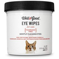 Well & Good Cat Eye Wipes, Pack of 100 wipes