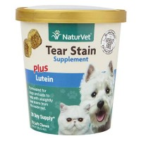 NaturVet Tear Stain Dog Soft Chews, Pack of 70 chews
