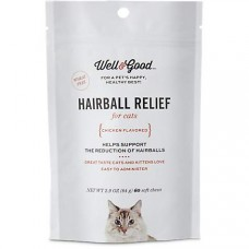 Well & Good Hairball Relief Soft Chew Cat Supplement, 60 CT
