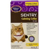 Sentry Calming Pheromone Cat Collar, Pack of 3