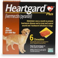 Heartgard Plus Chewables for Dogs 51 to 100 lbs., 6 Pack