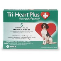 Tri-Heart Plus Chewable Tablets for Dogs 26 to 50 lbs., 6 Pack