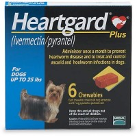 Heartgard Plus Chewables for Dogs 1 to 25 lbs., 6 Pack