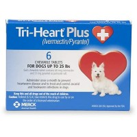 Tri-Heart Plus Chewable Tablets for Dogs 1 to 25 lbs., 6 Pack