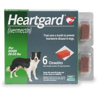 Heartgard Chewables for Dogs 26 to 50 lbs., 6 Pack
