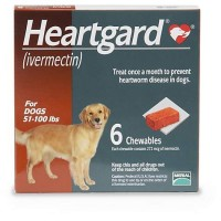 Heartgard Chewables for Dogs 51 to 100 lbs., 6 Pack