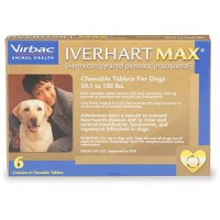 Iverhart Max Chewable Tablets for Dogs 50 to 100 lbs., 6 Pack