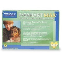 Iverhart Max Chewable Tablets for Dogs 25 to 50 lbs., 6 Pack