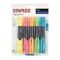 Staples Hype® Tank Highlighters, Chisel Tip, Assorted, 5/Pk (29228)