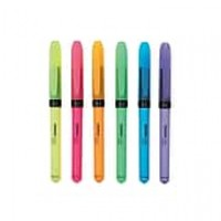 Staples Hype Stick Highlighters, Chisel, Assorted, 6/Pack (50372)