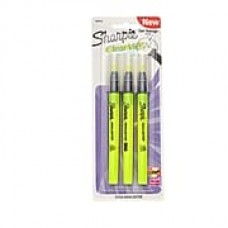 Sharpie® Clear View® Highlighter Stick, Yellow, 3/pk (1950745)
