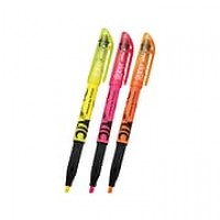 Pilot FriXion Light Erasable Highlighters, Chisel, Assorted, 3/Pack (46507)
