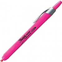 Sharpie® Accent® Retractable Highlighter, Chisel Tip, Fluorescent Pink, 12/pk (28029)