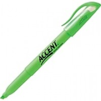 Sharpie® Accent® Pocket Style Highlighters, Chisel Tip, Green Ink, 12/pk (27026)