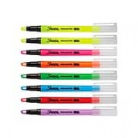 Sharpie Clear View Highlighters, Chisel, Assorted, 8/Pack (1966798)