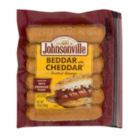 Johnsonville Beddar with Cheddar Sausage Smoked & Cheddar Cheese - 6 ct