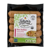 Nature's Promise Organic Chicken Italian Sausage Hot - 5 ct Fresh