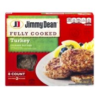 Jimmy Dean Turkey Sausage Patties Fully Cooked - 8 ct