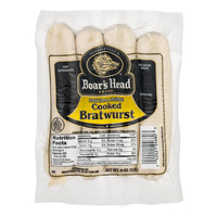 Boar's Head Deli Bratwurst Natural Casing Cooked - 4 ct
