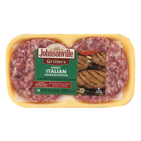 Johnsonville Grillers Sweet Italian Sausage Patties - 4 ct