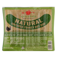 Applegate Natural Turkey Hot Dog Uncured - 6 ct